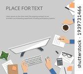 workplace desktop background....   Shutterstock .eps vector #1939731466