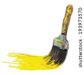 paint brush. hand writing... | Shutterstock .eps vector #193973570