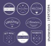set of vintage styled design... | Shutterstock .eps vector #193973594