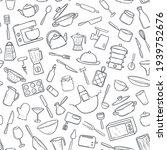 seamless pattern  kitchen... | Shutterstock .eps vector #1939752676