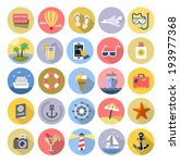 vector color tourism icons set... | Shutterstock .eps vector #193977368