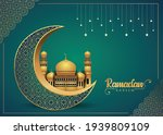 crescent islamic with mosque... | Shutterstock .eps vector #1939809109
