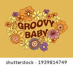 groovy baby  lettering print on ... | Shutterstock .eps vector #1939814749