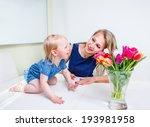 laughing toddler girl on the... | Shutterstock . vector #193981958