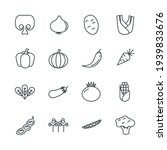veggies set icon  isolated...   Shutterstock .eps vector #1939833676