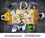 multi ethnic group of people... | Shutterstock . vector #193983560