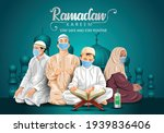 ramadan kareem and eid mubarak... | Shutterstock .eps vector #1939836406