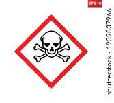 poison caution icon vector... | Shutterstock .eps vector #1939837966