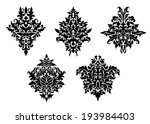 set of five different foliate... | Shutterstock . vector #193984403