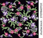 illustration pattern flowers... | Shutterstock .eps vector #1939860910