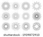 sun rays hand drawn  linear... | Shutterstock .eps vector #1939872910