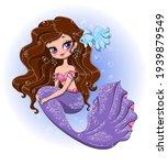 cute little mermaid with... | Shutterstock .eps vector #1939879549