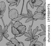 pattern with flowers and leaves.... | Shutterstock .eps vector #1939884976