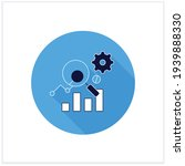 measurement analytics flat icon....