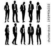 vector silhouettes of  men and... | Shutterstock .eps vector #1939906333