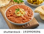 Fava Beans Dip. Traditional...