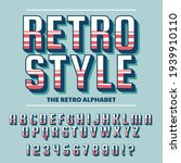 retro font and alphabet. the...   Shutterstock .eps vector #1939910110