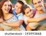 outdoor portrait of family... | Shutterstock . vector #193993868