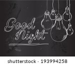 Good Night Bulbs Vector...