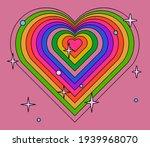 retro wallpaper with rainbow...   Shutterstock .eps vector #1939968070
