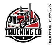 trucking logo. premium vector... | Shutterstock .eps vector #1939977340