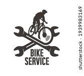 mountain bike and wrench  logo...   Shutterstock .eps vector #1939983169