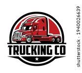 trucking logo vector. semi...   Shutterstock .eps vector #1940026639