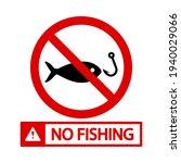 no fishing icon. no fishing... | Shutterstock .eps vector #1940029066