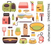collection of pet shop products ... | Shutterstock .eps vector #1940037946