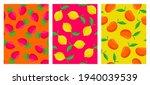 vector set of seamless patterns ... | Shutterstock .eps vector #1940039539