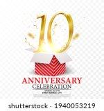 10th anniversary celebration....   Shutterstock . vector #1940053219