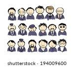group of men for your design | Shutterstock .eps vector #194009600