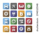 colored auto service icons with ... | Shutterstock .eps vector #194010548