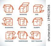 vector smiles icons ... | Shutterstock .eps vector #194013836