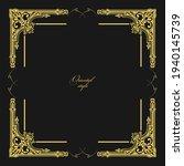 gold ornament on dark...   Shutterstock . vector #1940145739