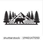 mountain and bear printable... | Shutterstock .eps vector #1940147050