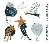 cute cats in space vector... | Shutterstock .eps vector #1940155159