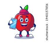 cute apple cleaner holding...   Shutterstock .eps vector #1940157856