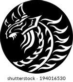 the white dragon | Shutterstock .eps vector #194016530