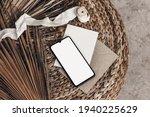 tropical summer mockups. black... | Shutterstock . vector #1940225629