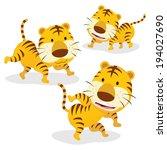 Three Tigers. Three Funny...