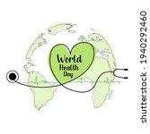world health day concept.... | Shutterstock .eps vector #1940292460