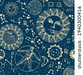 seamless pattern with zodiac... | Shutterstock .eps vector #1940300416