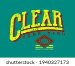 clear your mind quoted slogan...   Shutterstock .eps vector #1940327173