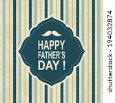 father's day card.vector... | Shutterstock .eps vector #194032874