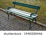 Square With Metal Benches In A...