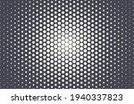 hexagonal halftone texture...   Shutterstock .eps vector #1940337823