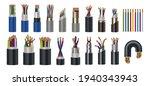realistic wires. flexible... | Shutterstock .eps vector #1940343943