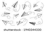 paper plane. hand drawn doodle...   Shutterstock .eps vector #1940344330