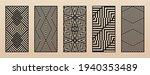 laser cut patterns. vector set... | Shutterstock .eps vector #1940353489